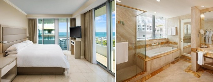 Suite with a hot tub in Hilton Bentley Miami-South Beach, Florida