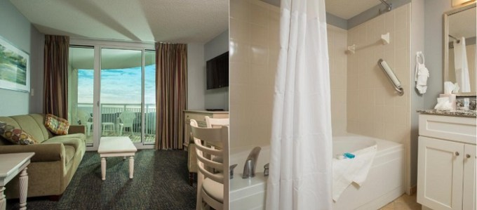 Suite with a jetted tub in Avista Resort, North Myrtle Beach, South Carolina
