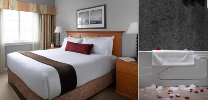 Suite with a jetted tub in Rivertide Suites, Seaside, Oregon Coast