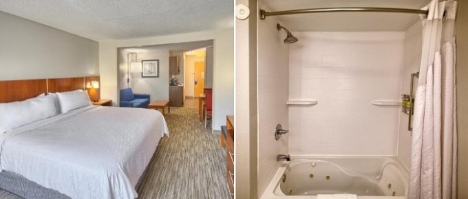 Hot tub suite in Holiday Inn Express Hotel & Suites Raleigh North - Wake Forest, NC hotel