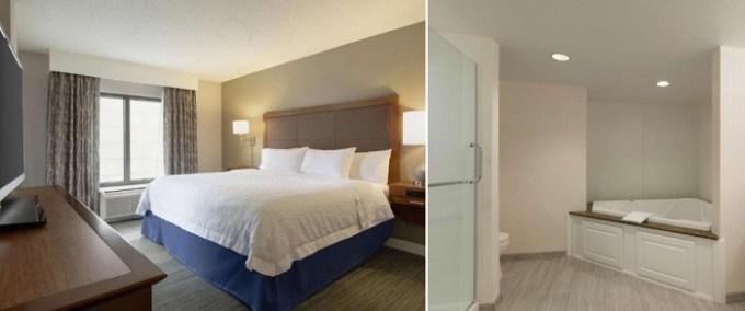 Jacuzzi suite in Hampton Inn & Suites Nashville Downtown Hotel, TN