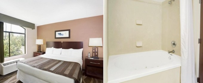 Suite with a hot tub in the room in Wingate by Wyndham Raleigh Durham - Airport hotel, NC