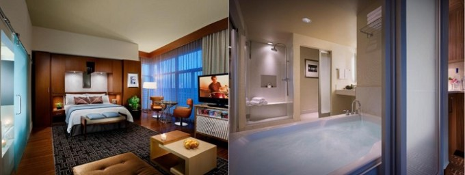 Suite with a hot tub in Seminole Hard Rock Hotel and Casino Tampa Hotel, Florida