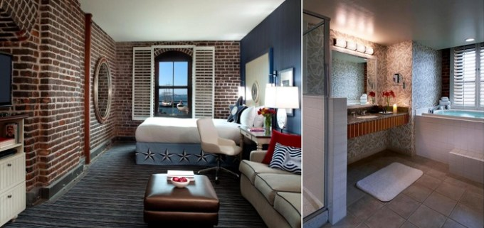 Jacuzzi suite in Argonaut Hotel, a Noble House Hotel, San Francisco, CA