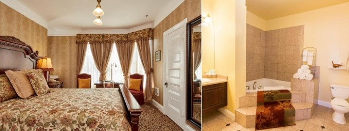 Whirlpool suite in Queen Anne Boutique Hotel, San Francisco, CA