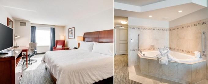 Jacuzzi suite in Hilton Garden Inn Milwaukee Airport Hotel, WI