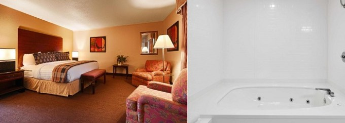 Room with a hot tub in Best Western Plus Milwaukee Airport Hotel & Conference Center Hotel, WI