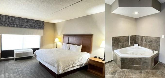 Whirlpool suite in Hampton Inn & Suites Louisville East Hotel, KY