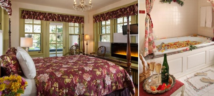 Jacuzzi suite in King's Cottage Bed & Breakfast, Lancaster, PA