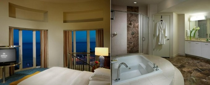 Presidential Suite with a hot tub in Hilton Fort Lauderdale Beach Resort, Fl