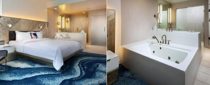 Suite with a hot tub in W Fort Lauderdale hotel, Florida