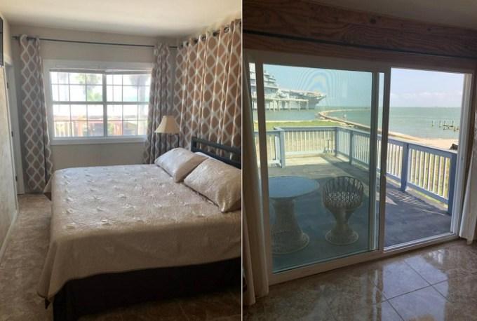 Beachfront hotel suite in Capri Beach Hotel, Corpus Christi, Texas