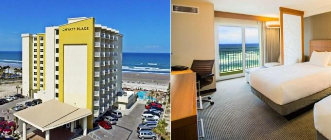 Beachfront room in Hyatt Place Daytona Beach-Oceanfront, near Orlando, FL