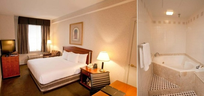 Hot tub suite in Hilton Cincinnati Netherland Plaza, Ohio