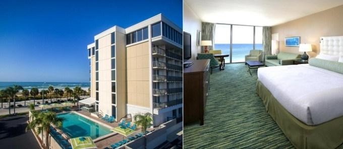 Oceanfront hotel suite in Holiday Inn Sarasota-Lido Beach at the Beach, an IHG Hotel, FL
