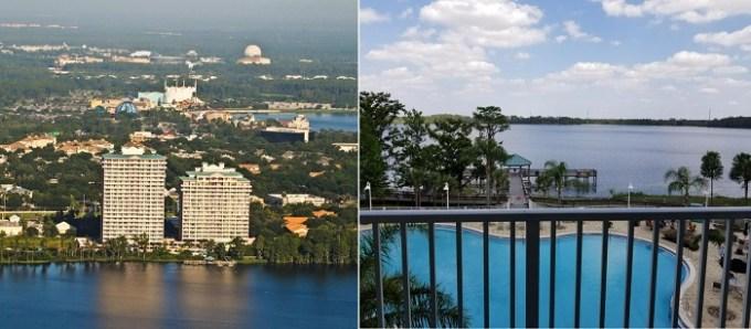 The lakefront hotel Blue Heron Beach Resort, Orlando, FL