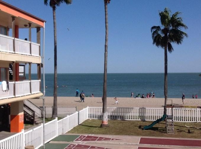 The oceanfront Sea Shell Inn Motel, Corpus Christi, TX
