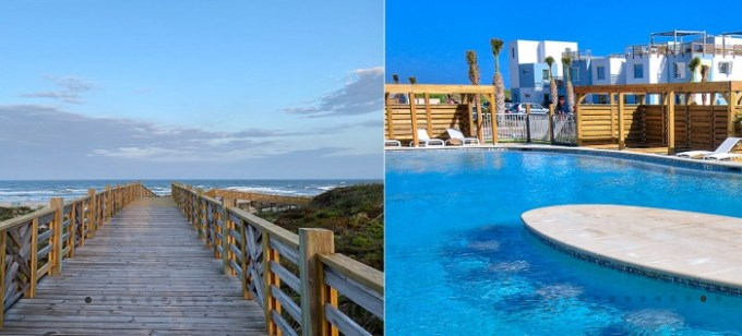 The oceanfront condo hotel Lively Beach, Corpus Christi, TX