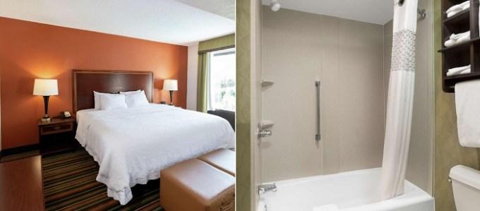 Room with a Whirlpool in Hampton Inn Winston-Salem Hanes Mall, near Greensboro, NC
