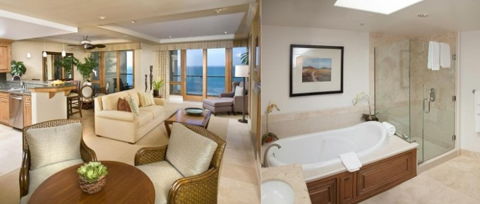 Suite with a hot tub in Dolphin Bay Resort and Spa, Pismo Beach, CA