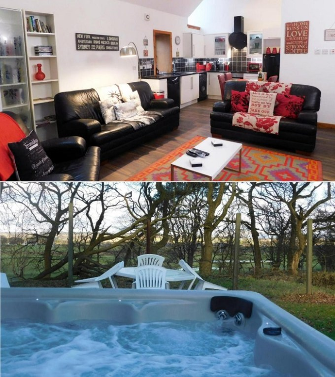 Antonine Wall Cottages with a private hot tub, near Glasgow, Scotland