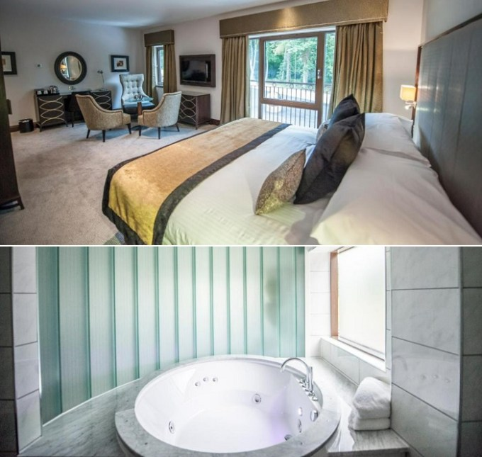 Jacuzzi suite in Parklands Hotel & Country Club, Glasgow, Scotland