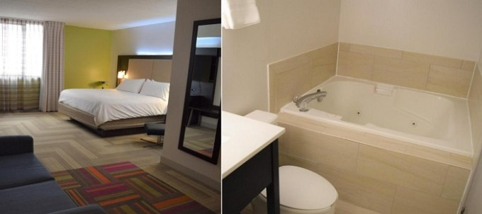 Suite with a hot tub in Holiday Inn Express Philadelphia NE-Bensalem, an IHG Hotel, PA
