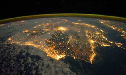 Asa arata peninsula Iberica din spatiu