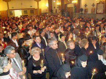 Sute de romani la slujba de Inviere de la Madrid