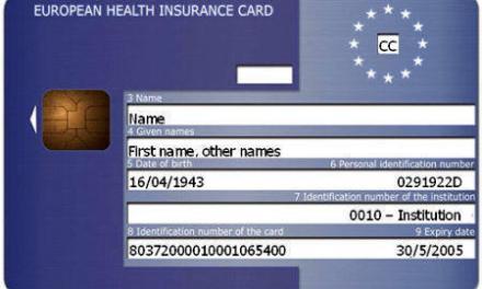 Obtinerea unui Card European de Sanatate – cardul sanitar european
