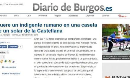Un român fără adăpost a murit la Burgos