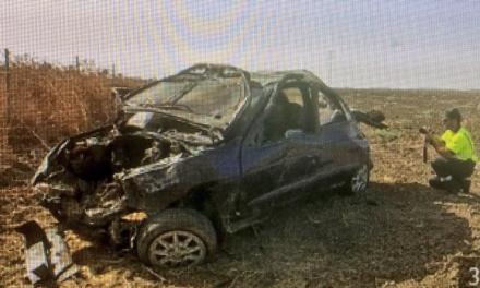 4 români s-au răsturnat cu mașina la Sevilla