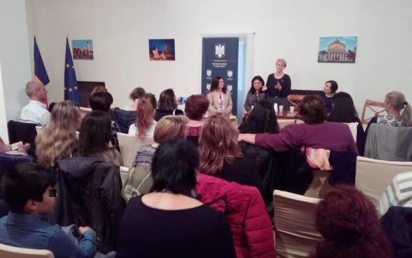 Conferință despre violența domestică la ambasada României