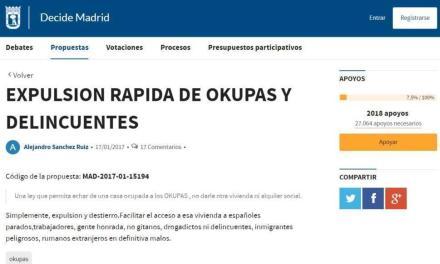 Românii din Madrid, denigrați pe un site al primăriei