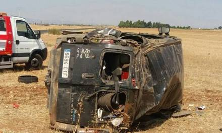 Microbuz cu muncitori români, răsturnat la Ciudad Real