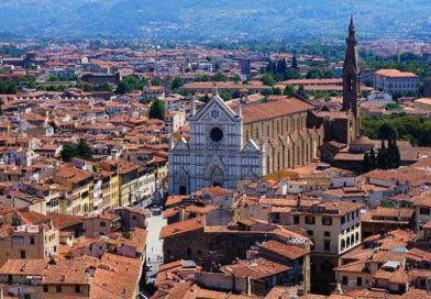 A Basílica de Santa Cruz em Florença