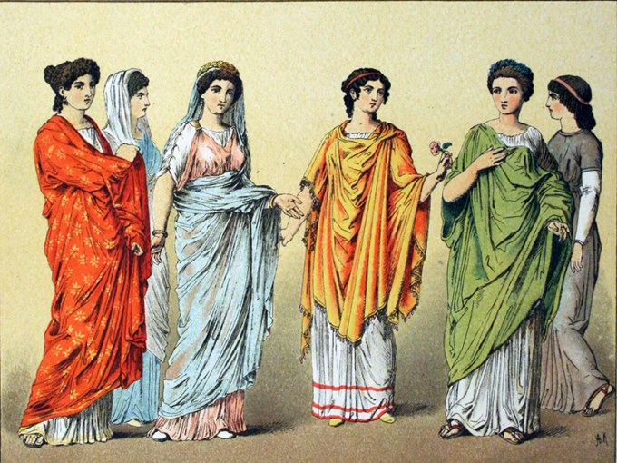 Fashion in Ancient Rome  Togas  Underwear  and Wedding Dresses In Ancient Rome  what you wore clearly identified your social class  men   women  young people  and slaves wore completely different kinds of clothing