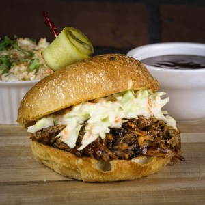 Romby's Tavern and Smokehouse Pulled Pork Sandwich