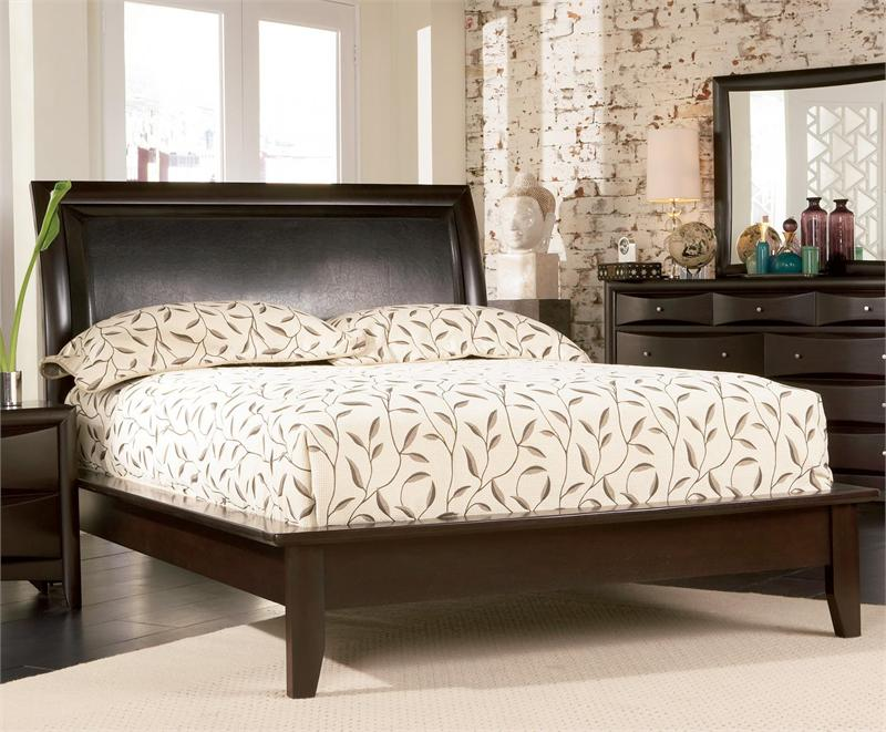 Espresso Platform Bedroom Set Pheonix Collection