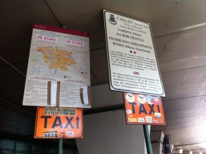 Pay attention to Rome airport taxi fares