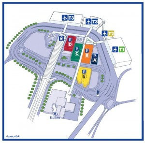 Hilton Rome Airport location