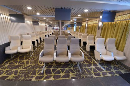 Economy seating on Hellenic Seaway's Nissos Samos ferry.
