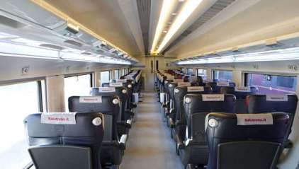 Italo's Comfort class. More space than Smart with a wide aisle and large seats. (Credit: Italo)