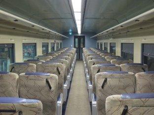 Overland train interior