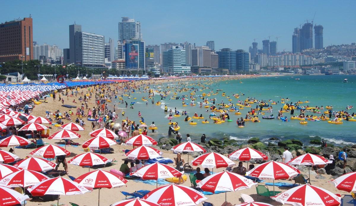 Haeundae beach Korea Busan Pusan