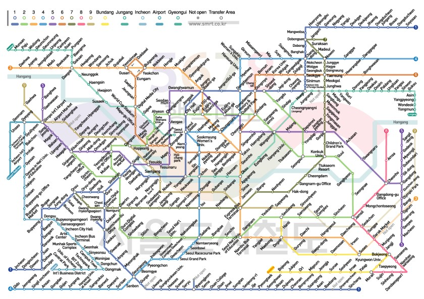 Seoul Subway Map in English