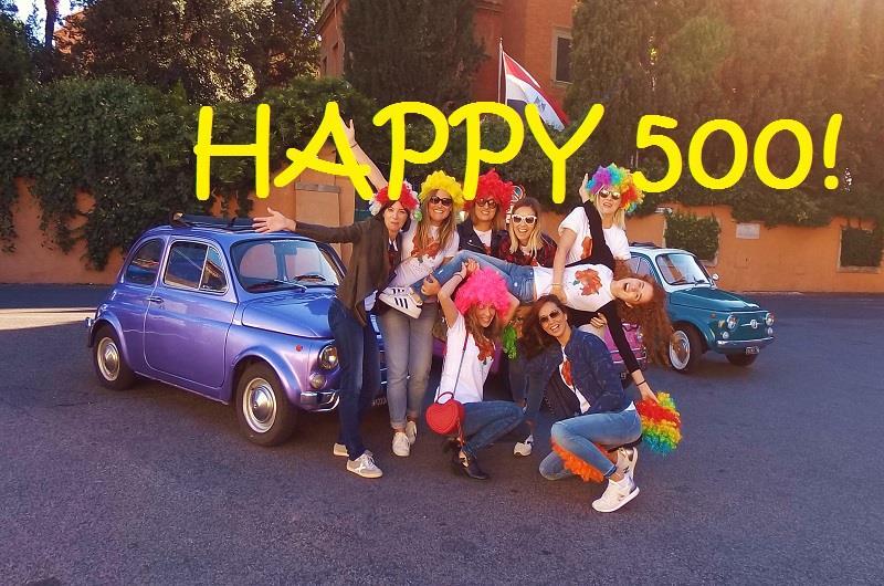 Fiat 500 Vintage Car 3 Hours Convoy Tour Rome