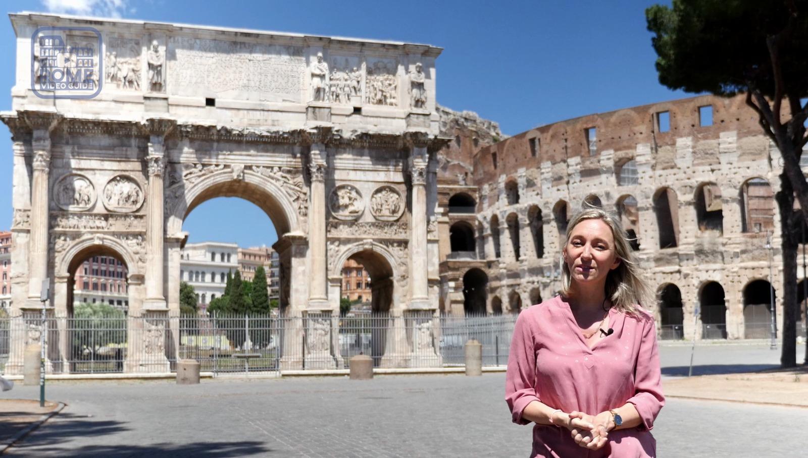 Arc de Constantin - Peggy - RomeVideoGuide.com
