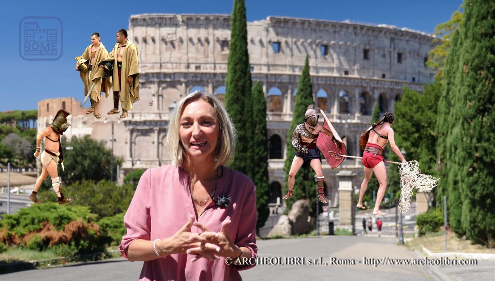 Colisée - Gladiateurs - Peggy - RomeVideoGuide.com