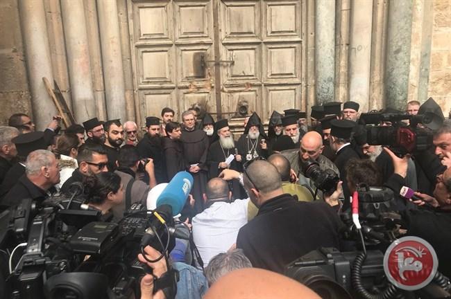 Εκλεισε ο Ναός της Αναστάσεως σε ένδειξη διαμαρτυρίας